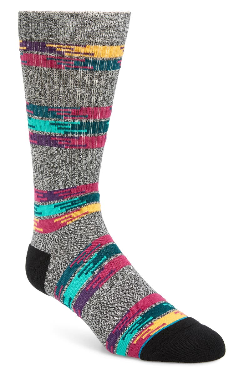 STANCE Jackee Stripe Socks, Main, color, GREY