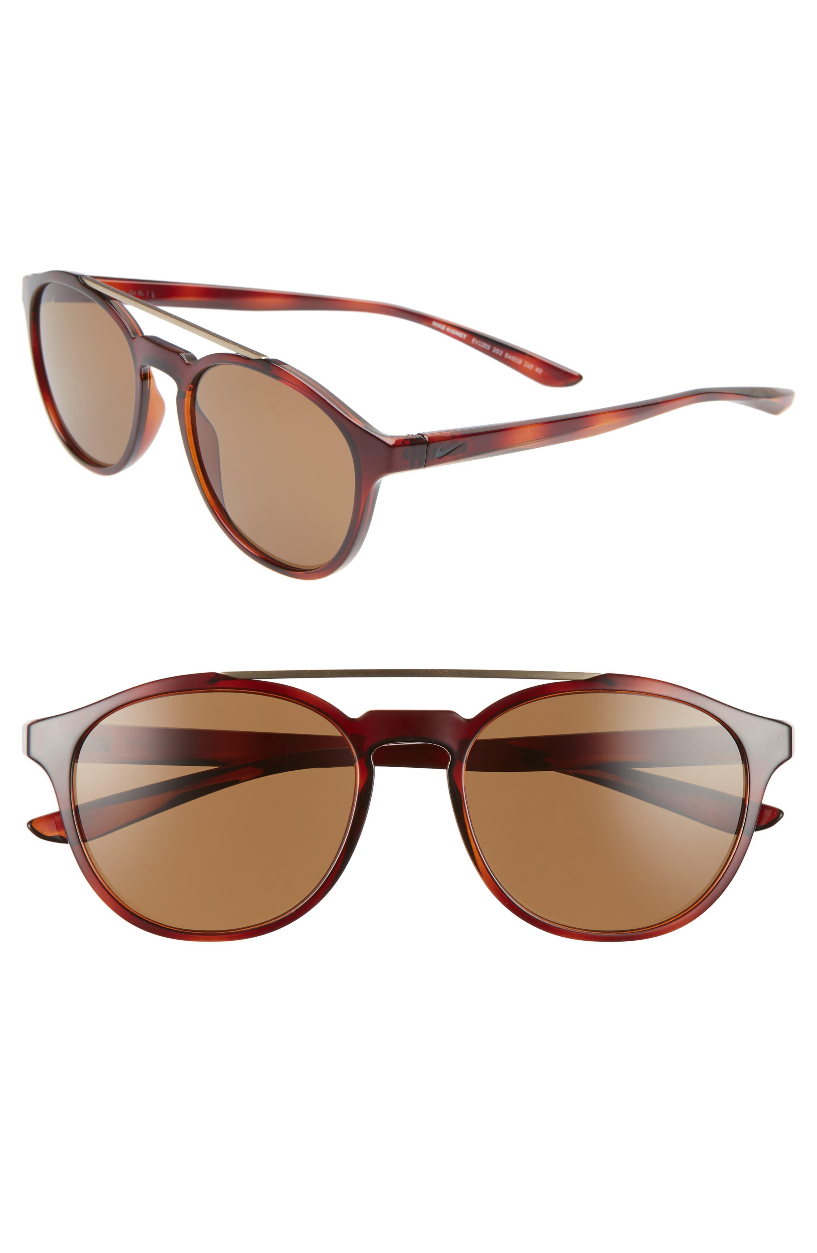 Nike Kismet 5m Round Sunglasses - Tortoise/ Brown