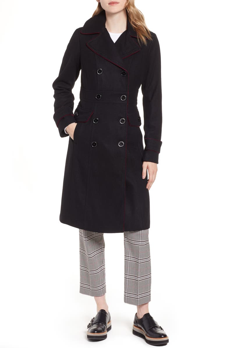 315d0d2adca9 Kenneth Cole New York Wool Blend Military Coat | Nordstrom