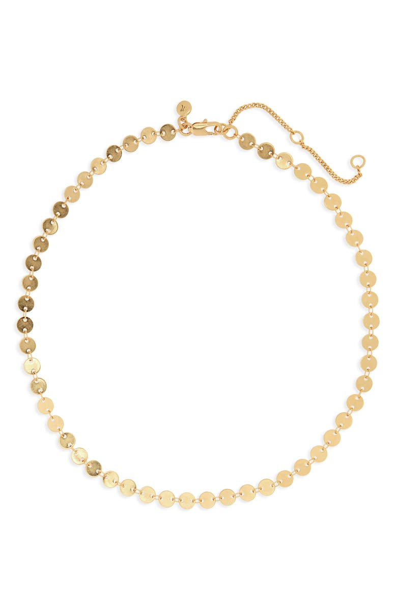 MADEWELL Disc Chain Necklace, Main, color, VINTAGE GOLD