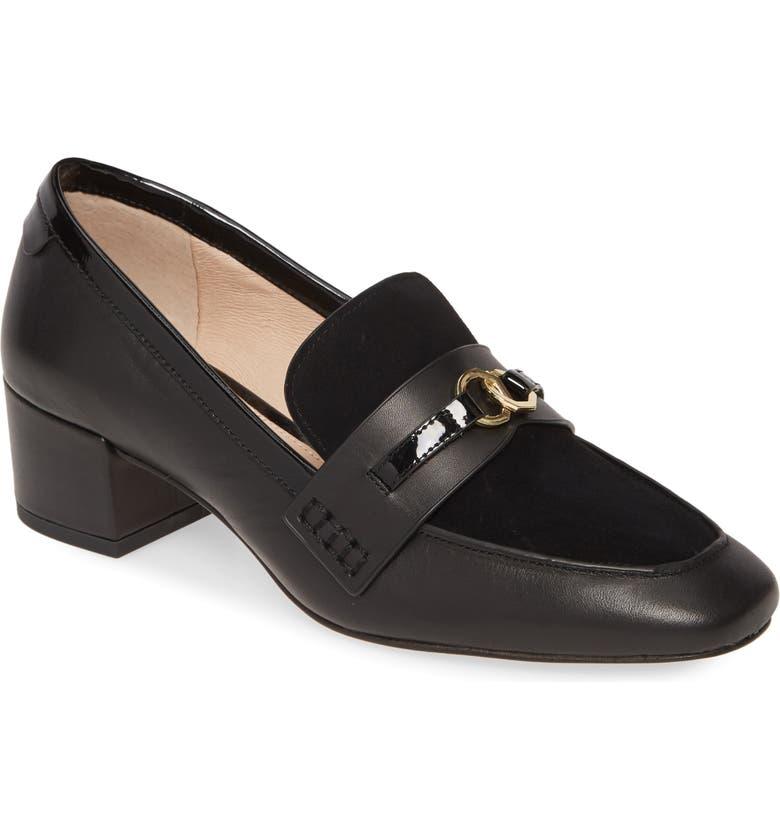 LOUISE ET CIE Larrin Loafer, Main, color, BLACK SUEDE