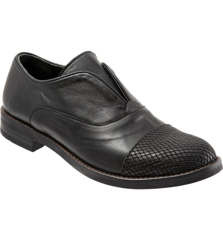 BUENO Patty Slip-On Loafer, Main, color, BLACK SNAKE LEATHER