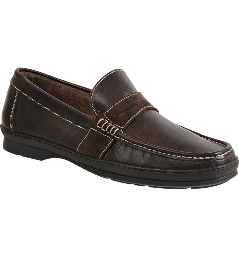 SANDRO MOSCOLONI Reid Penny Loafer, Main, color, BROWN