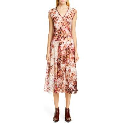 Fuzzi Abstract Dot Midi Dress, Pink