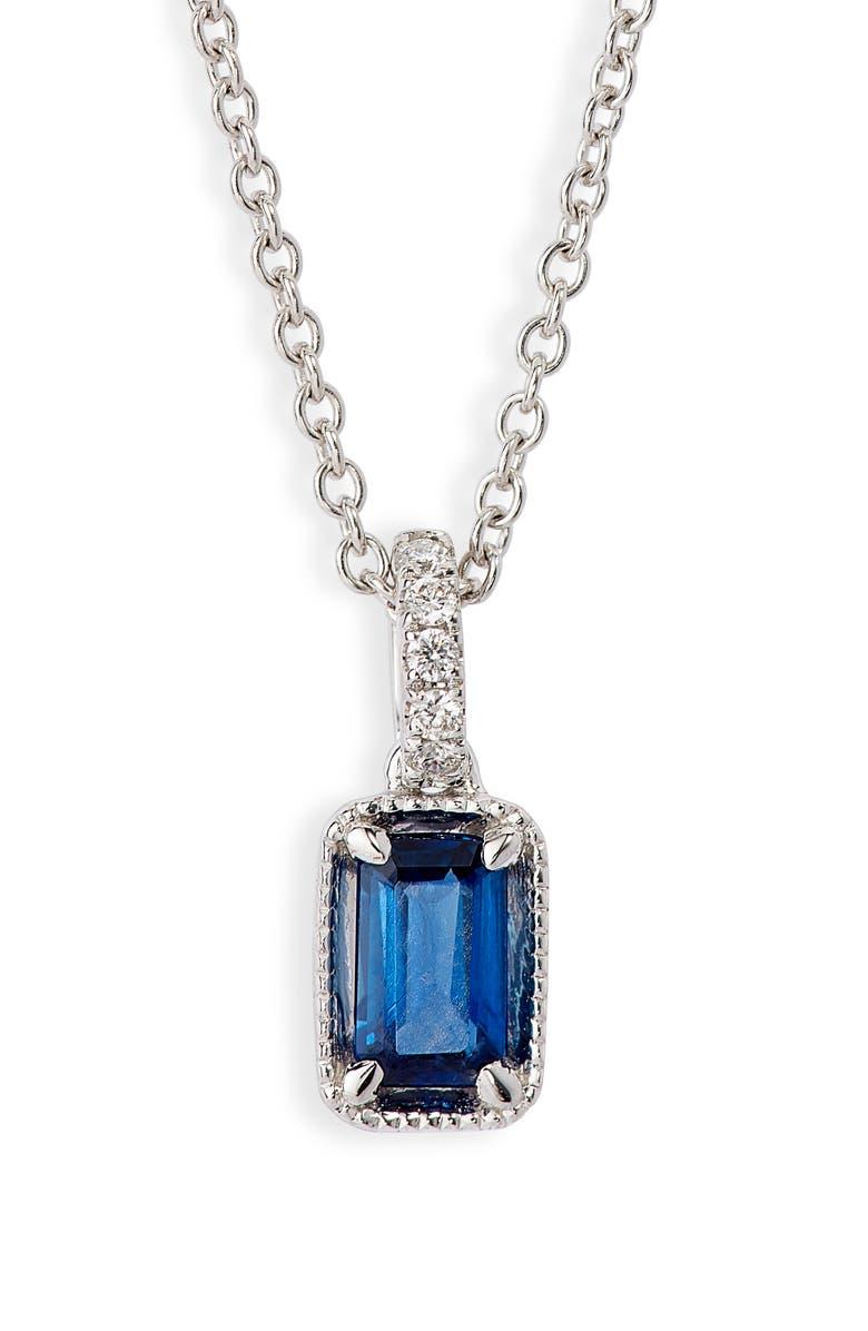 BONY LEVY El Mar Sapphire & Diamond Pendant Necklace, Main, color, WHITE GOLD/ DIAMOND/ SAPPHIRE