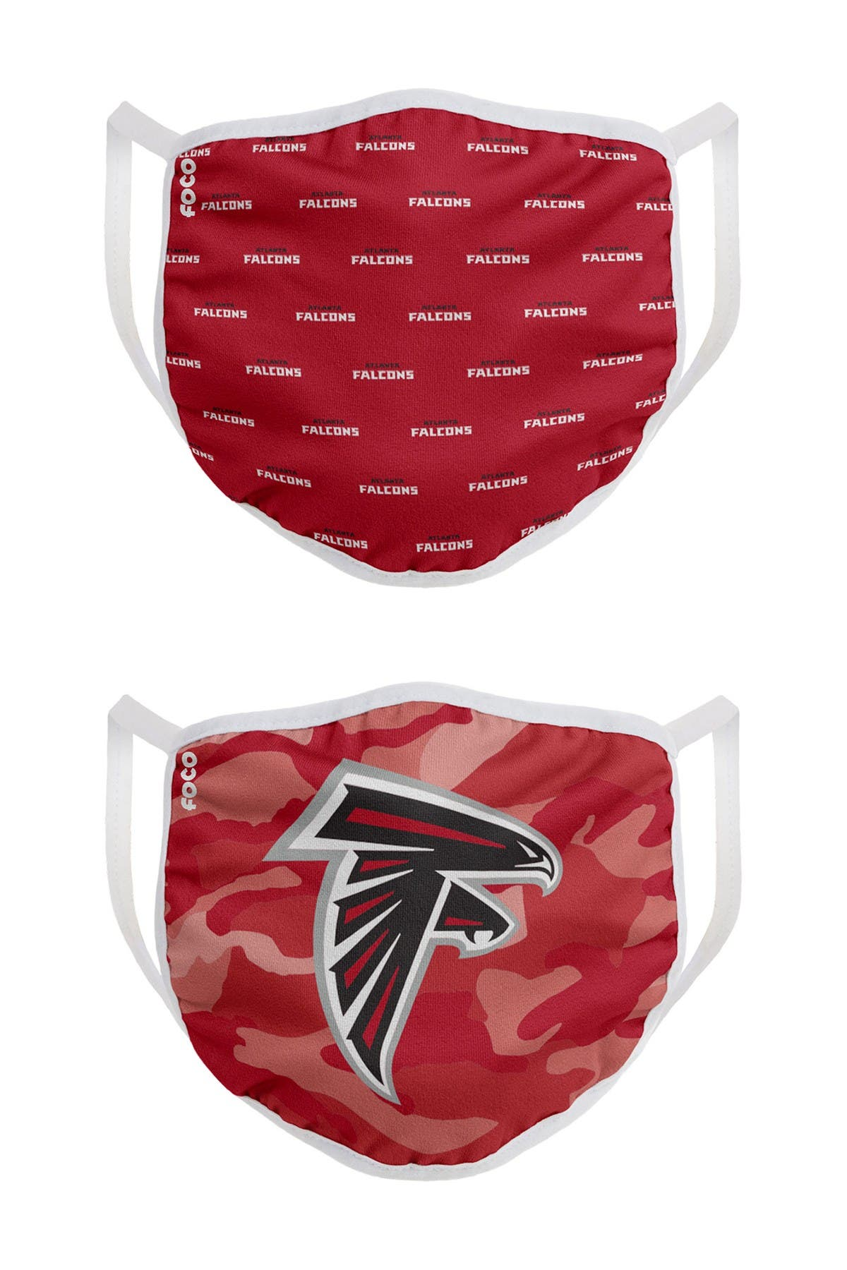 Image of FOCO NFL Atlanta Falcons Clutch Printed Face Cover - Pack of 2