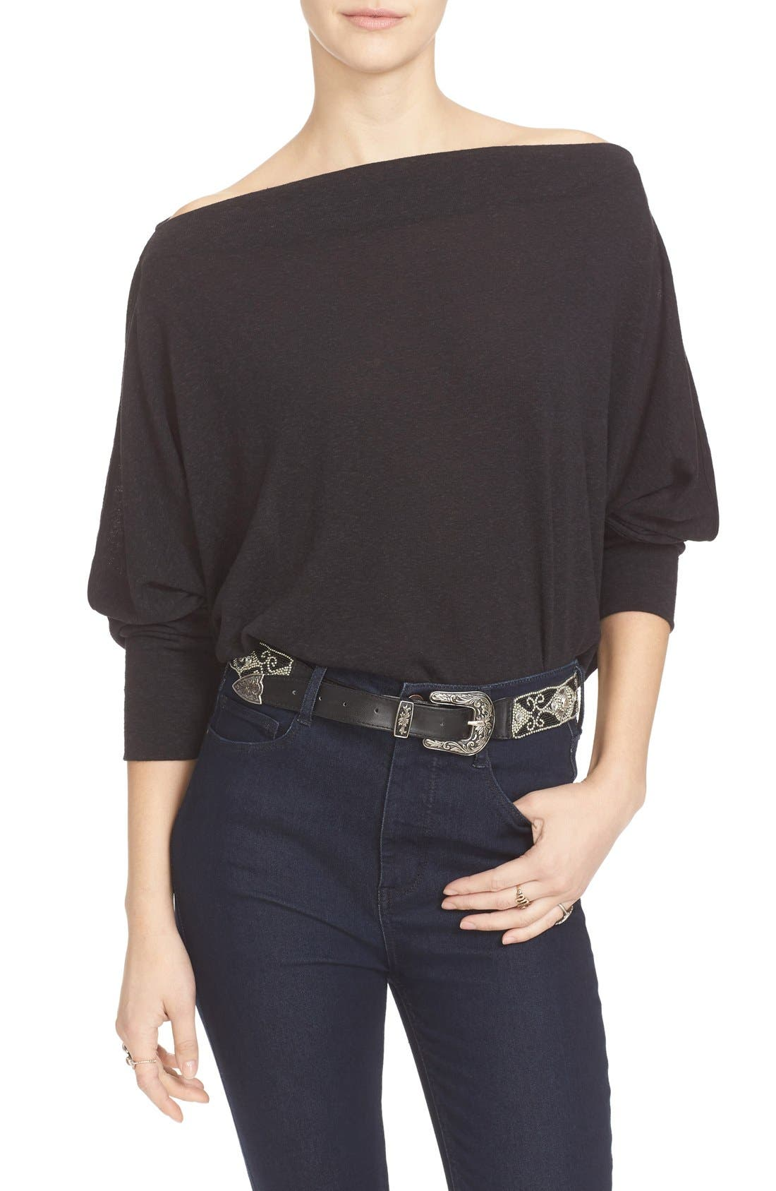 ,                             Valencia Off the Shoulder Pullover,                             Alternate thumbnail 8, color,                             001