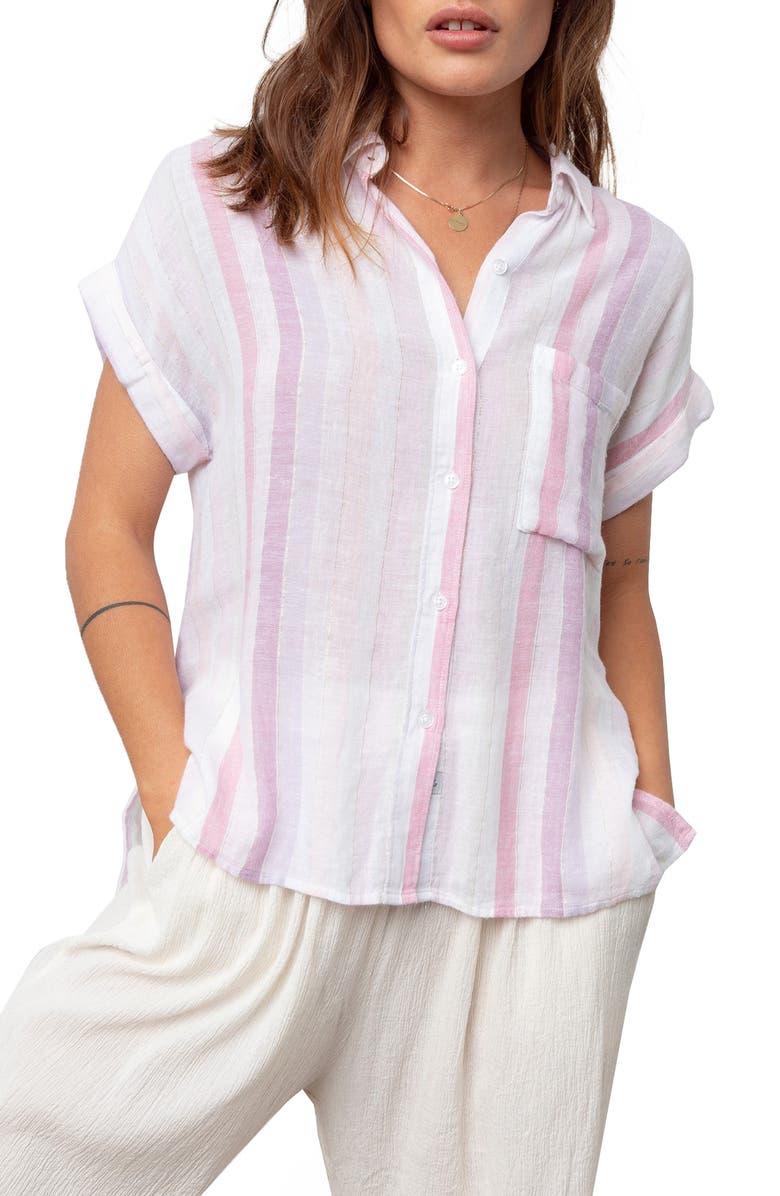 RAILS Whitney Print Shirt, Main, color, SAHARA STRIPE