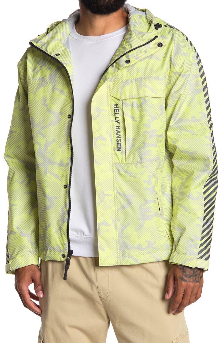 HELLY HANSEN Vector Packable Rain Jacket, Main, color, SUNNY LIME