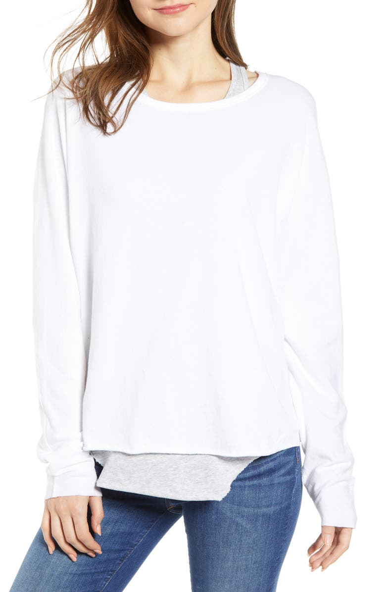 FRANK & EILEEN Tee Lab Core Long Sleeve Tee, Main, color, WHITE