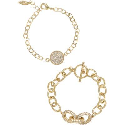 Ettika Set Of 2 Pave Bracelets
