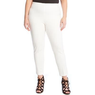 Plus Size Karen Kane Piper Skinny Ankle Pants, White