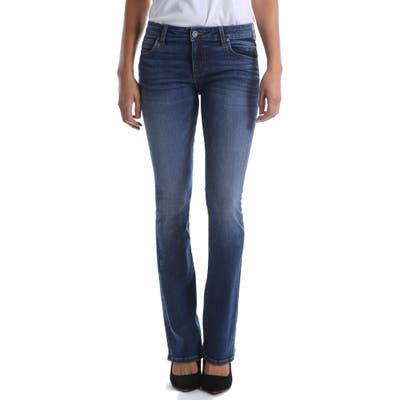 Petite Kut From The Kloth Natalie Flare Jeans, Blue
