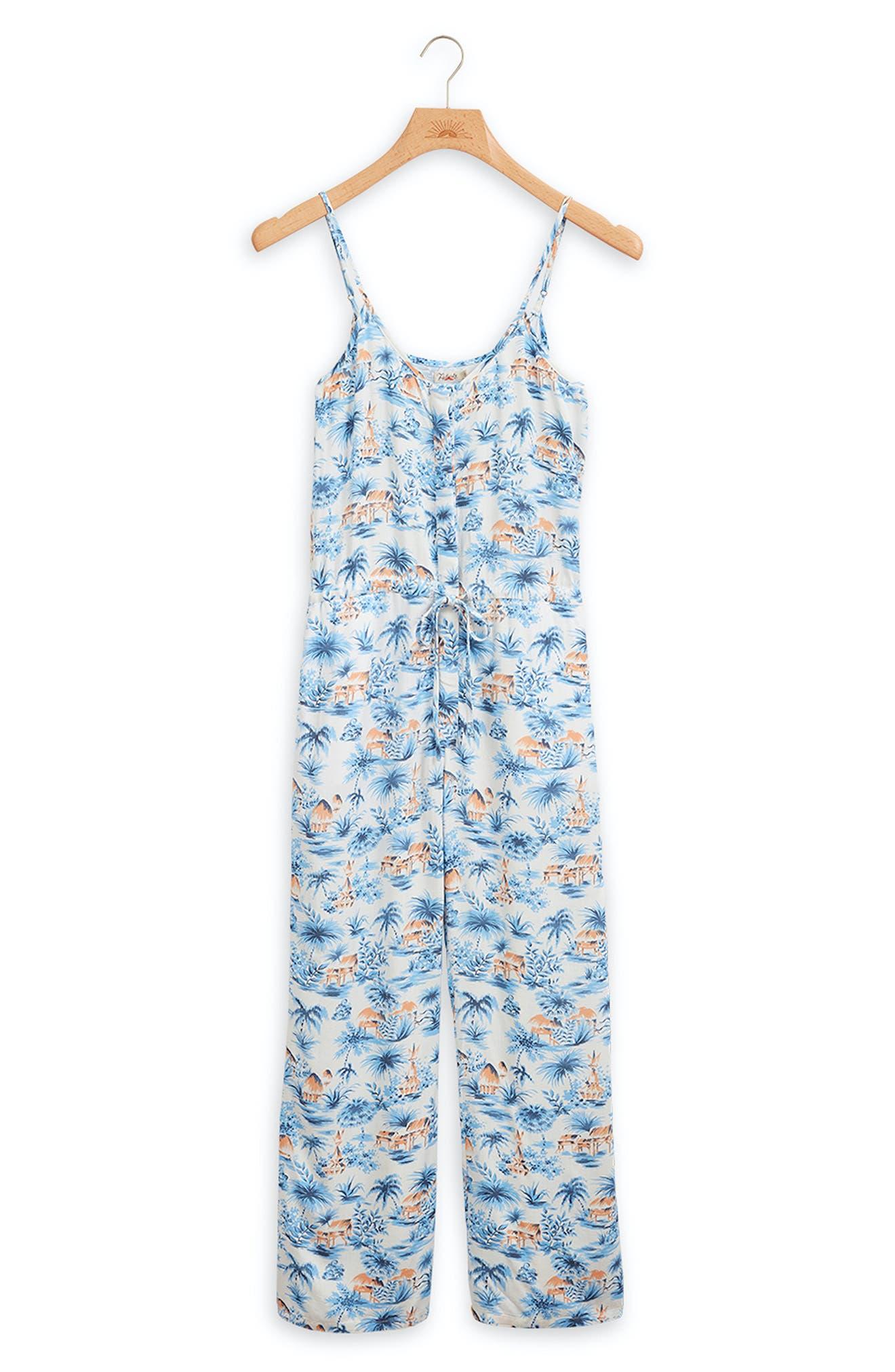 Leila Tropical Print Jumpsuit