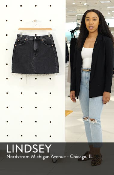 High Waist Denim Skirt, sales video thumbnail