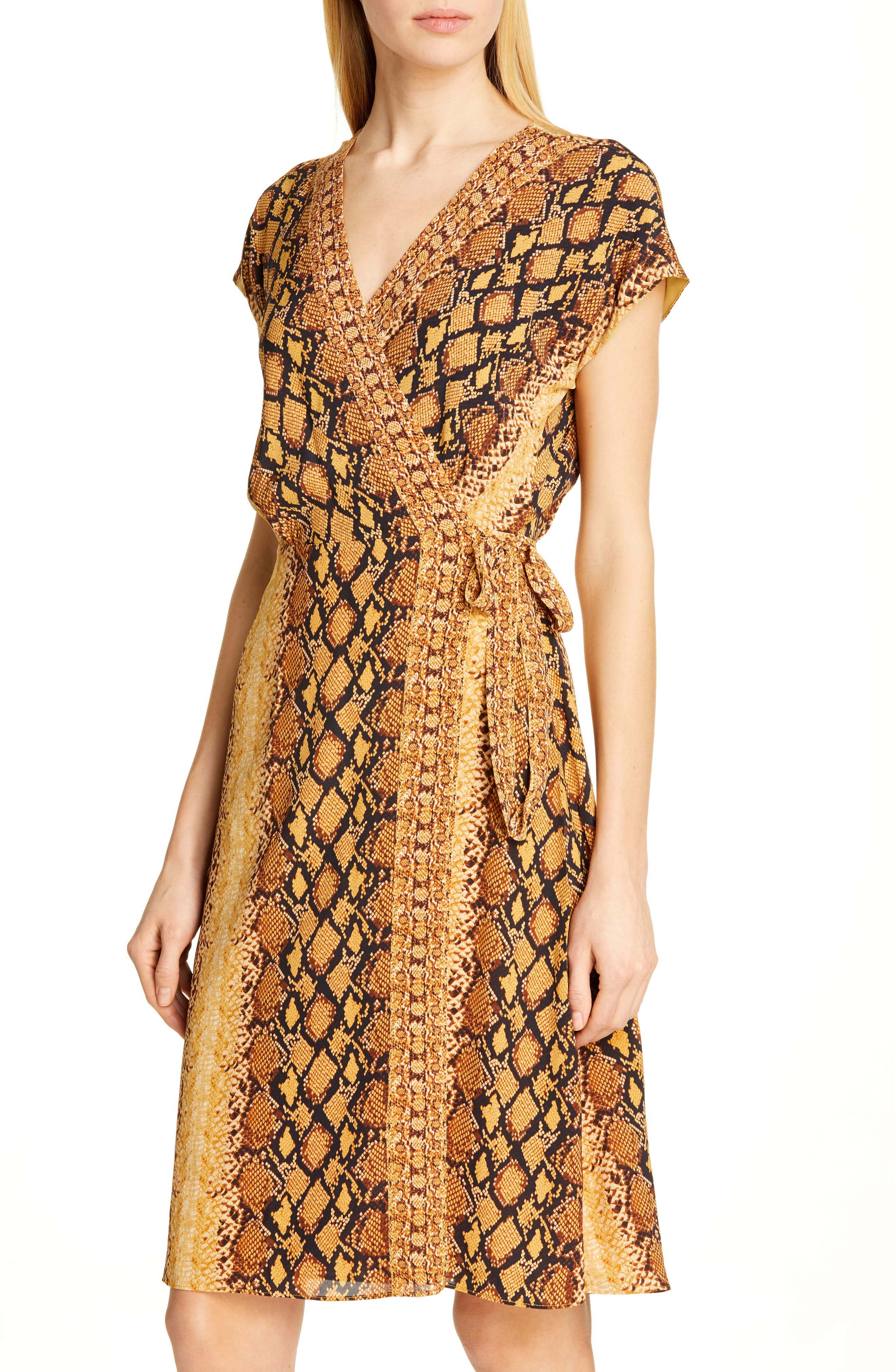 ,                             Bethwyn C Snakeskin Print Wrap Style Dress,                             Alternate thumbnail 5, color,                             720