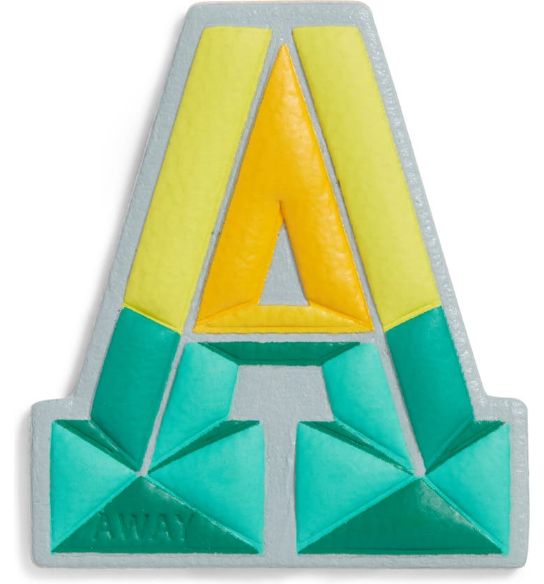 AWAY Prism Initial Leather Luggage Sticker, Main, color, 300