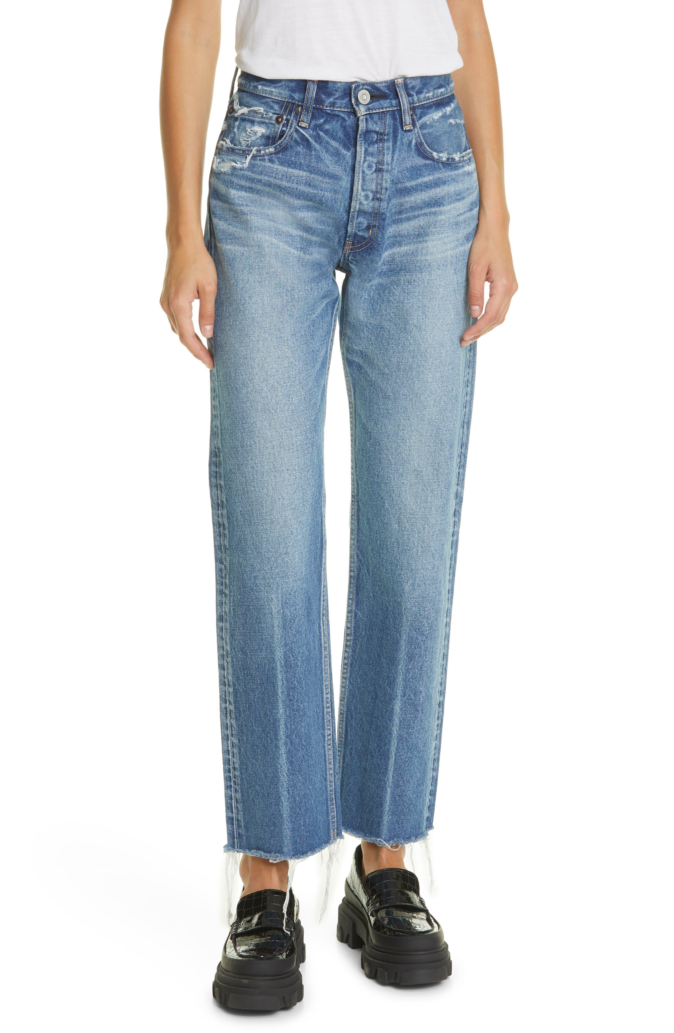 Ashley Wide Straight Leg Jeans