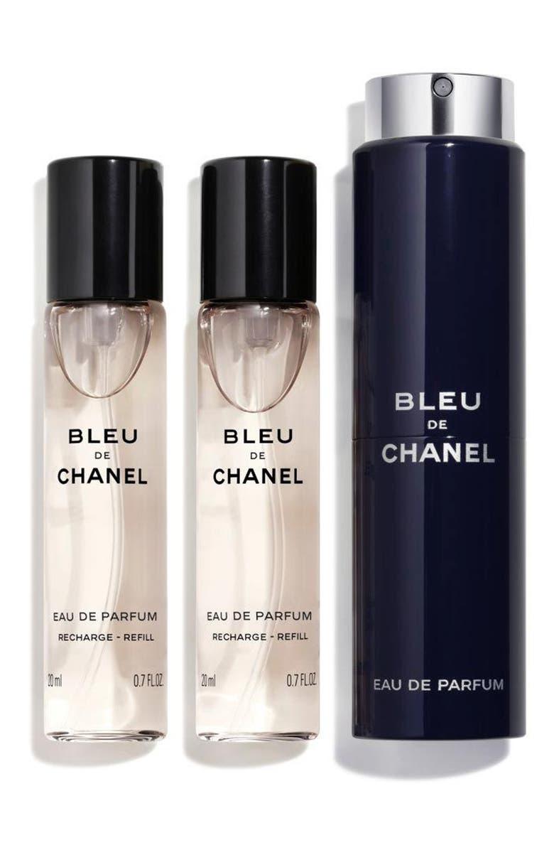 CHANEL BLEU DE CHANEL EAU DE PARFUM POUR HOMME Refillable Travel Spray Set, Main, color, NO COLOR