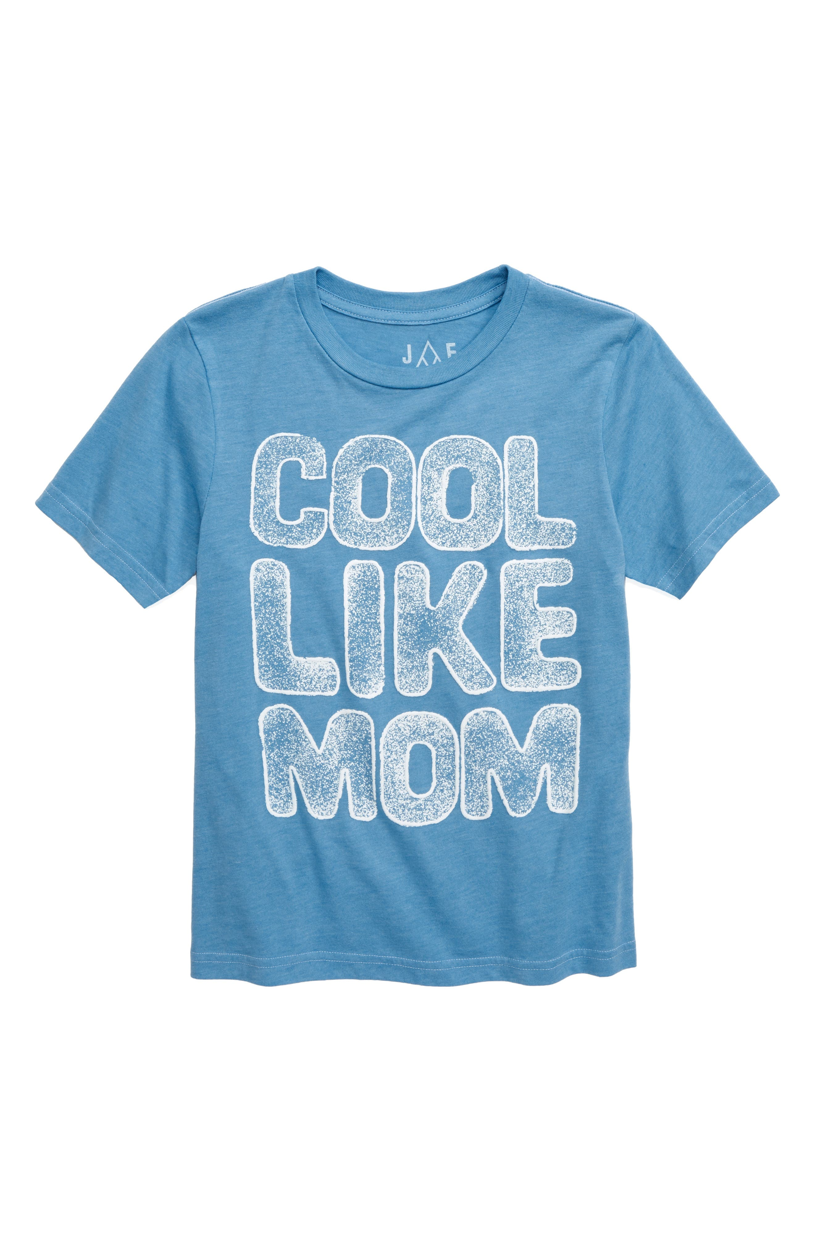 Cool Like Mom Glitter T-Shirt, Main, color, BLUE