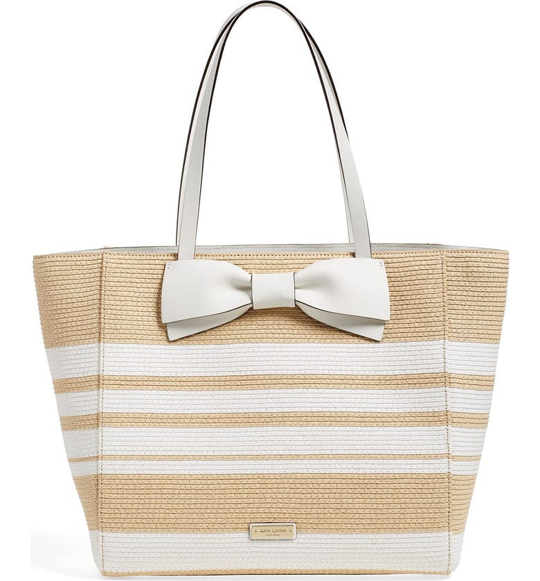 KATE SPADE NEW YORK 'clement street - blair' woven straw tote, Main, color, 253