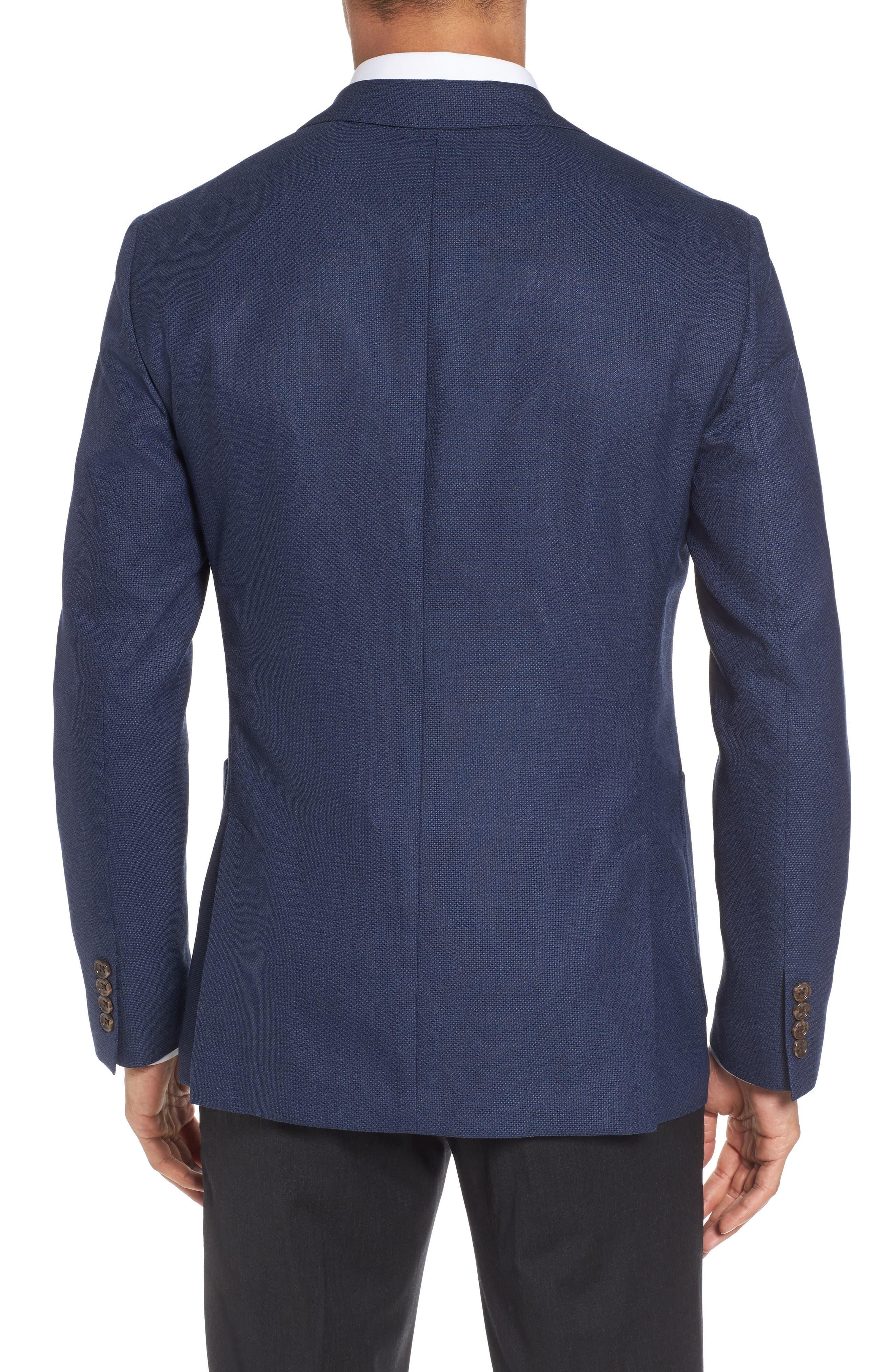 ,                             Slim Fit Wool Unconstructed Sport Coat,                             Alternate thumbnail 2, color,                             BLUE