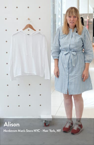 Organic Linen & Cotton Slub Knit Hooded Pullover, sales video thumbnail