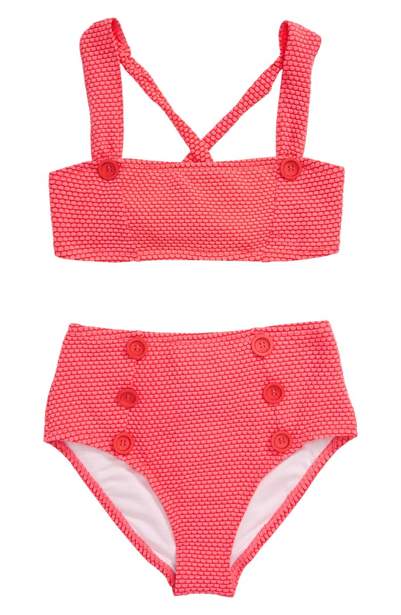 HEART AND HARMONY Dots Two-Piece Swimsuit, Main, color, CORAL SUN