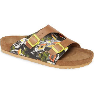 Birkenstock Zurich Camo Evolution Slide Sandal,11.5US / 44EU - Yellow