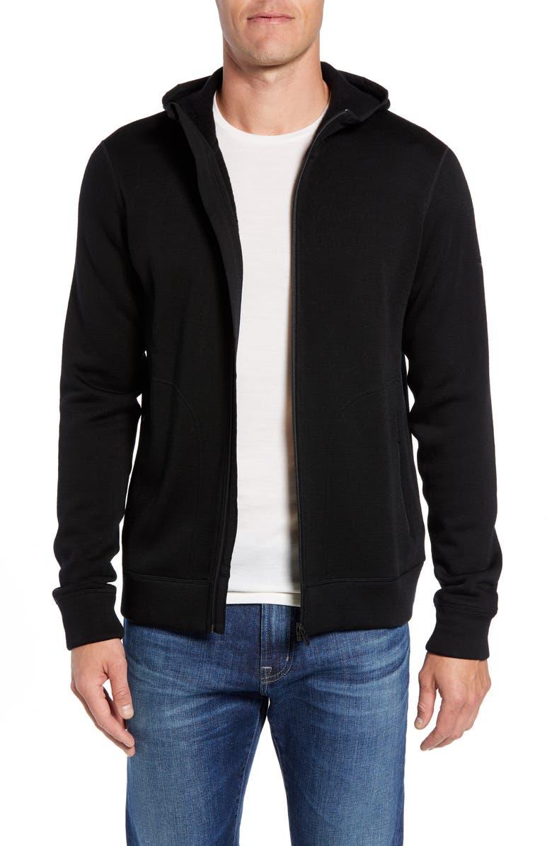 ICEBREAKER Elemental Zip Hoodie, Main, color, BLACK