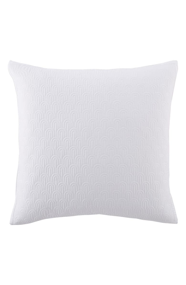 TED BAKER LONDON Quilted Euro Sham, Main, color, WHITE