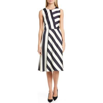 Boss Dalta Stripe Satin Dress, Black