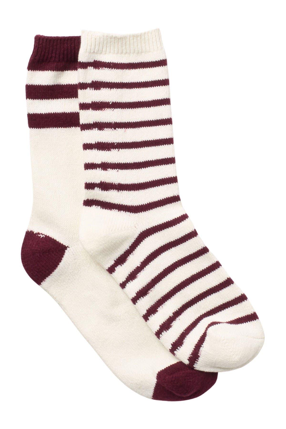 Image of Jessica Simpson Stripe Crew Socks - Pack of 2