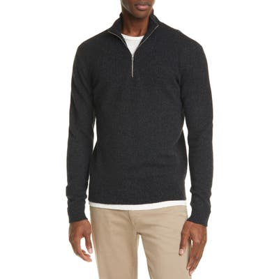 Norse Projects Fjord Half-Zip Merino Wool Sweater, Grey
