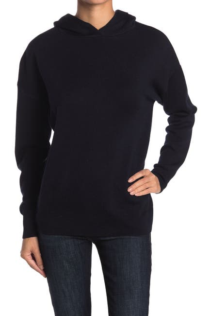 Image of M Magaschoni Wool Blend Solid Knit Hoodie