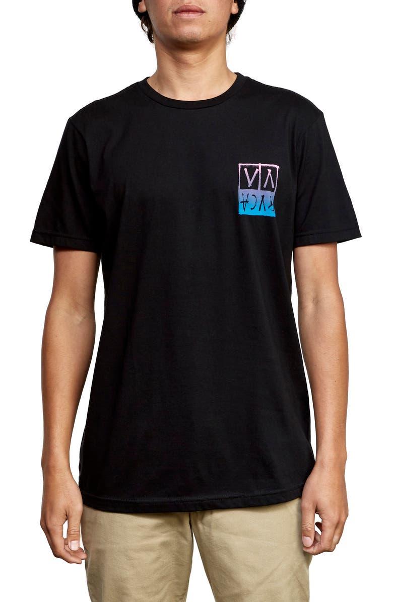 RVCA Black Logo Graphic T-Shirt, Main, color, BLACK