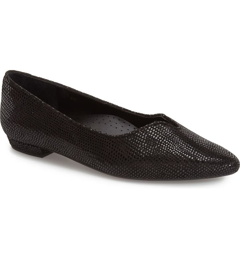 VANELI 'Ganet' Pointy Toe Flat, Main, color, BLACK PRINT