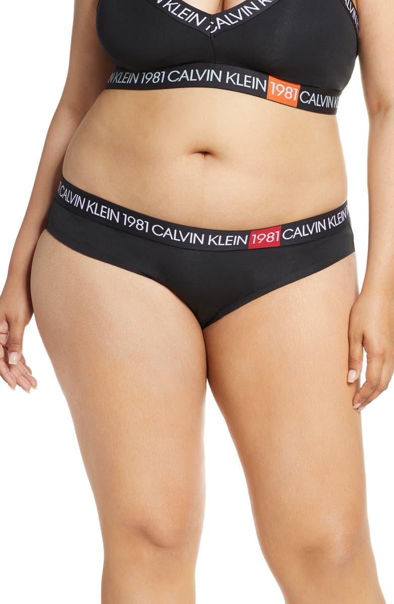CALVIN KLEIN 1981 Bold Bikini, Main, color, BLACK
