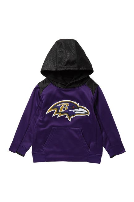 Image of NFL Baltimore Ravens Off The Grid Perforated Hoodie Sweatshirt