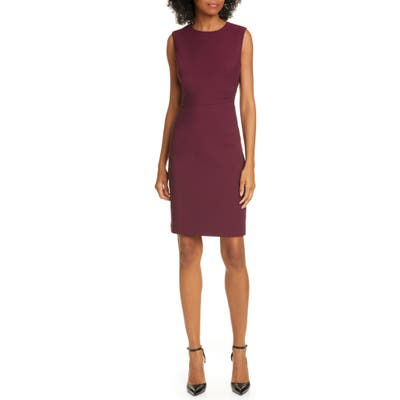 Ted Baker London Sskyed Sheath Dress, (fits like 14 US) - Purple