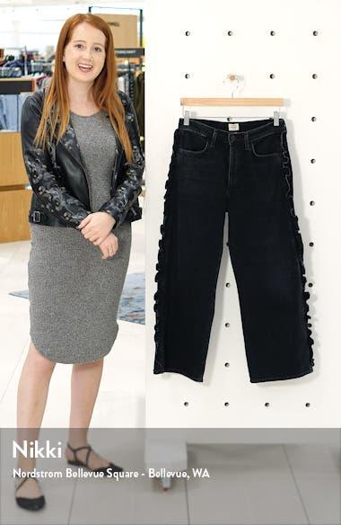 Sara High Waist Ruffle Wide Leg Jeans, sales video thumbnail