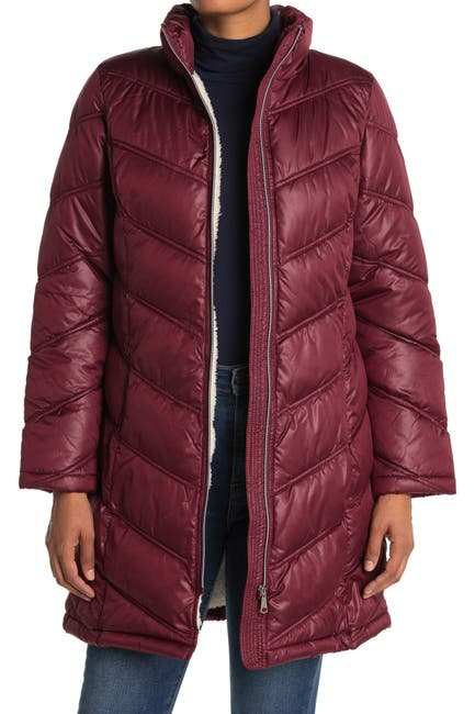 Image of Coffee Shop Zip Front Puffer Jacket