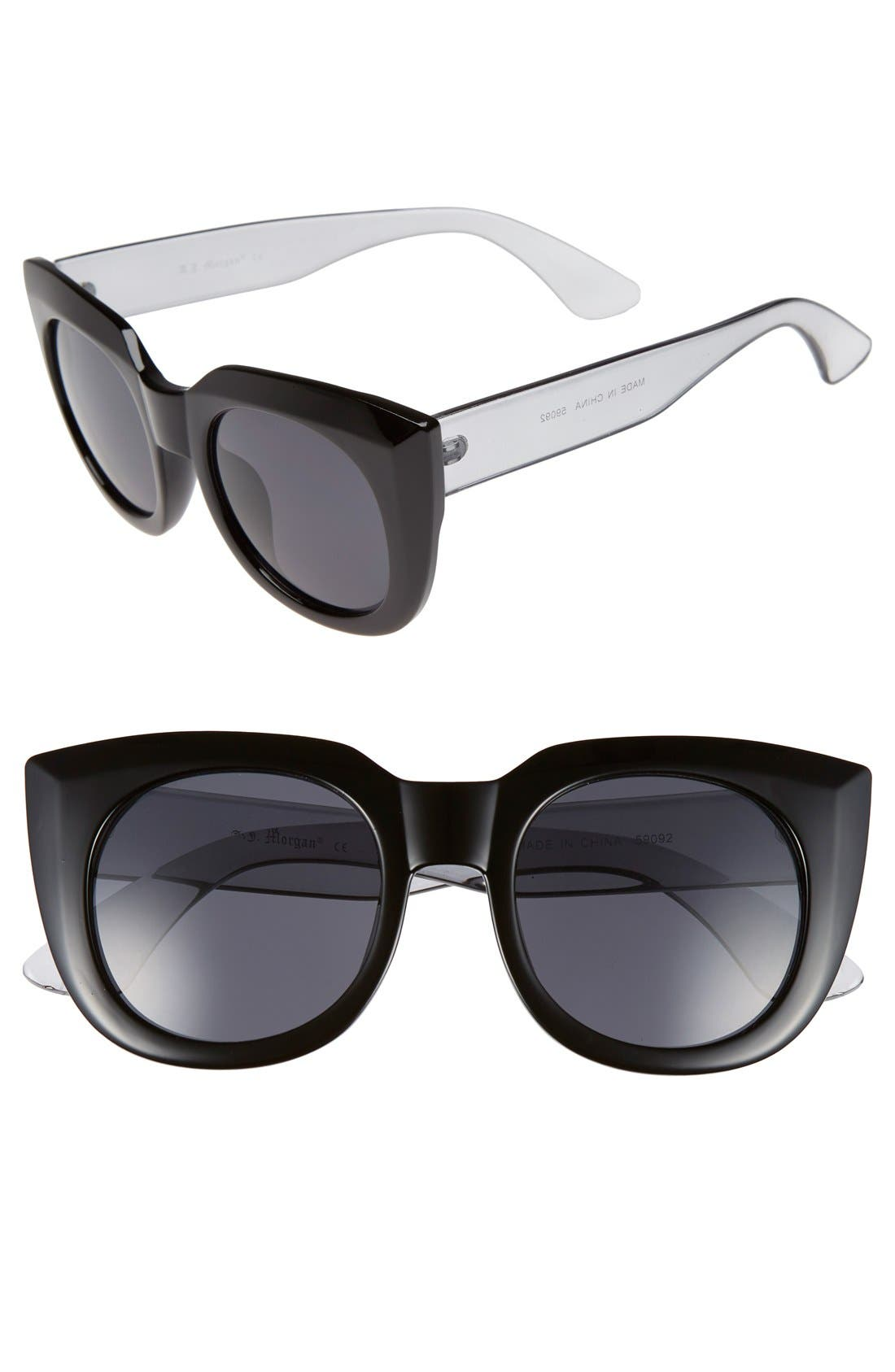 'Beam' 50mm Sunglasses, Main, color, 001