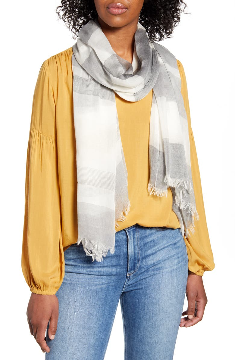 NORDSTROM Yarn Dyed Stripe Wrap, Main, color, 050
