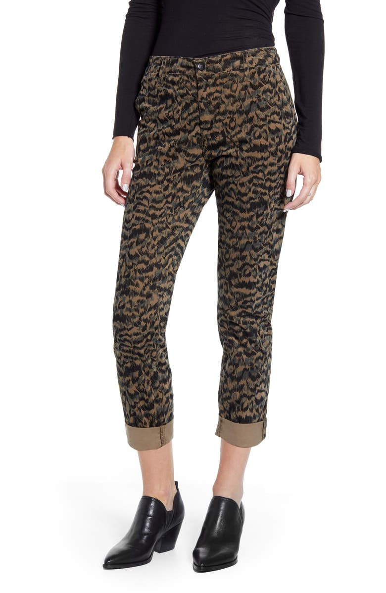 AG Caden Print Ankle Twill Trousers, Main, color, SHADOW A-DARK BAYOU/ BLACK