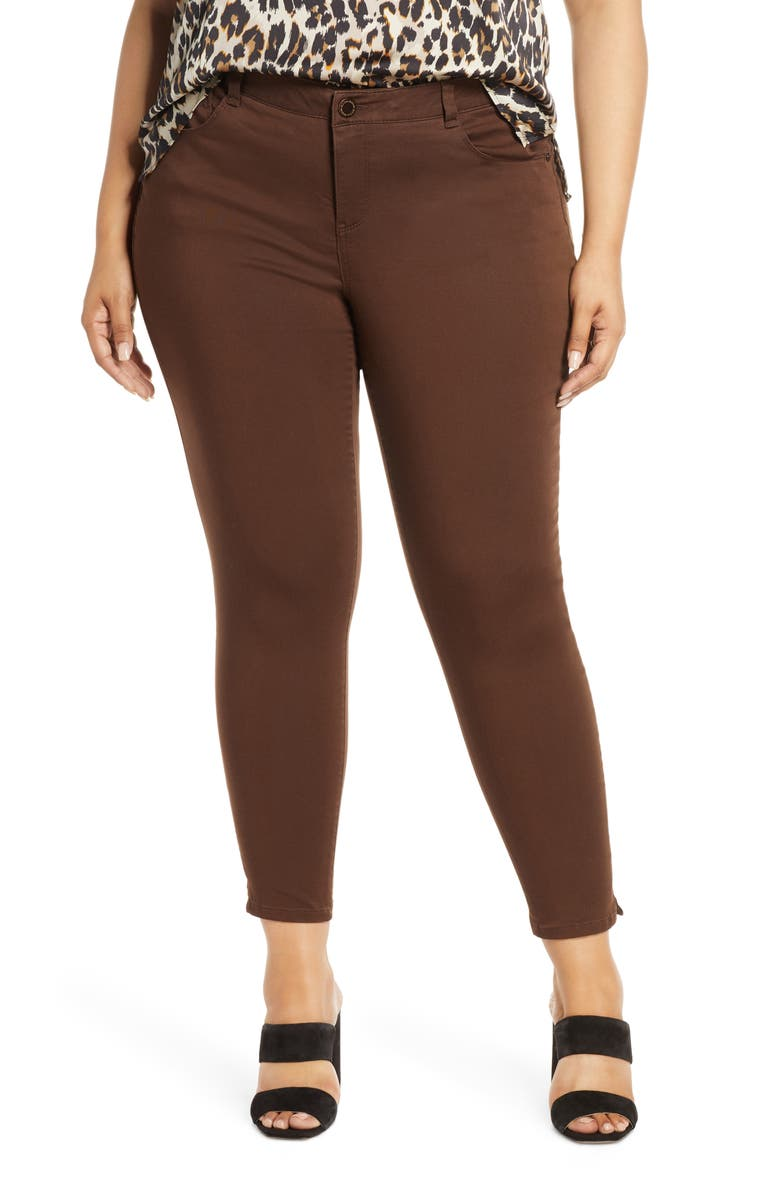 WIT & WISDOM Ab-Solution Ankle Skimmer Jeans, Main, color, COLD BREW
