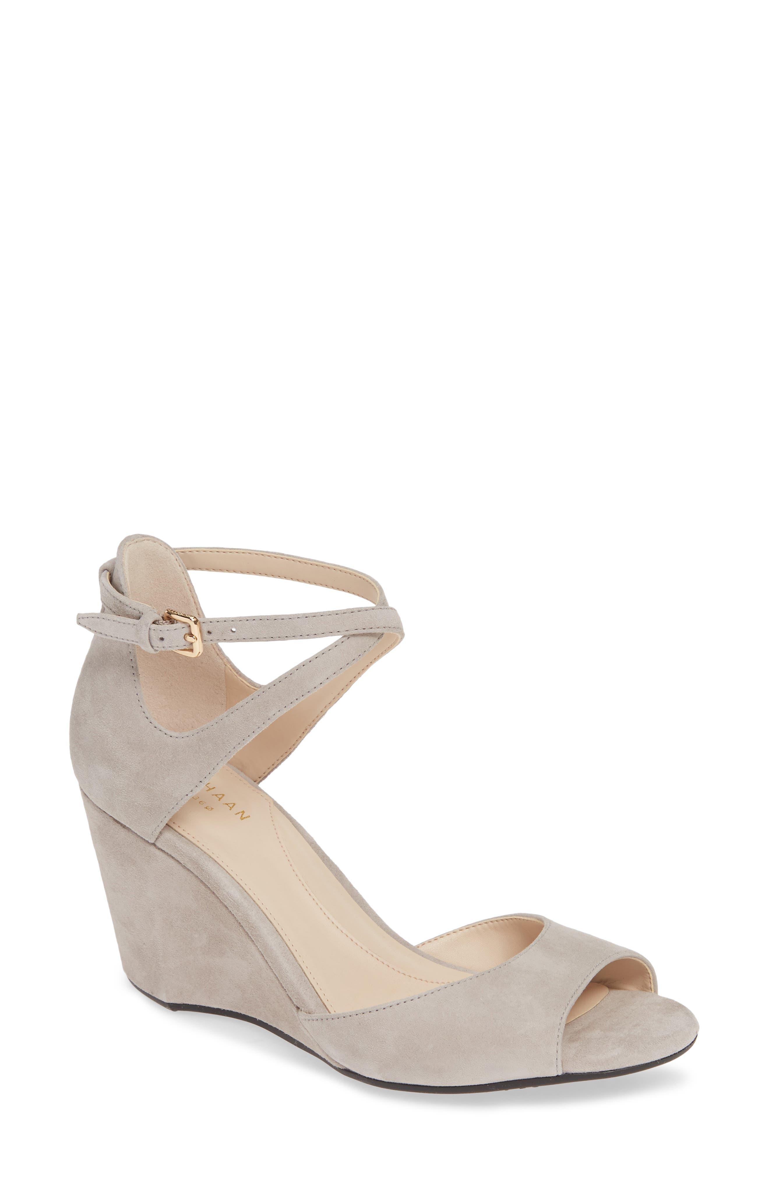 Cole Haan Sadie Open Toe Wedge Sandal (Women)
