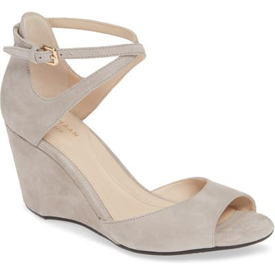 Cole Haan Sadie Open Toe Wedge Sandal B - Grey