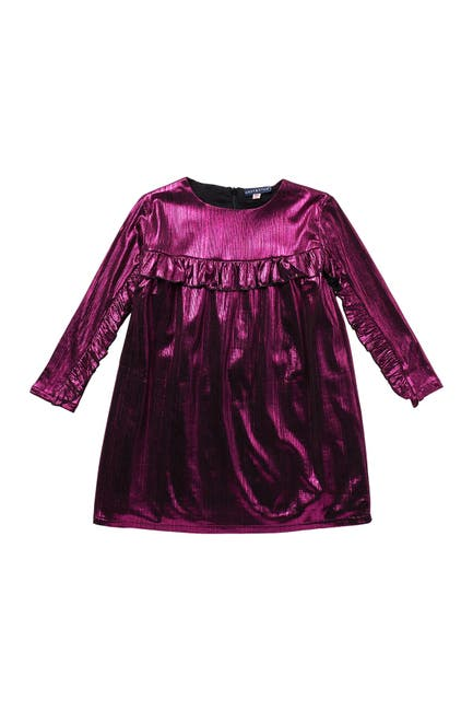 Image of Andy & Evan Fuchsia Metallic Dress