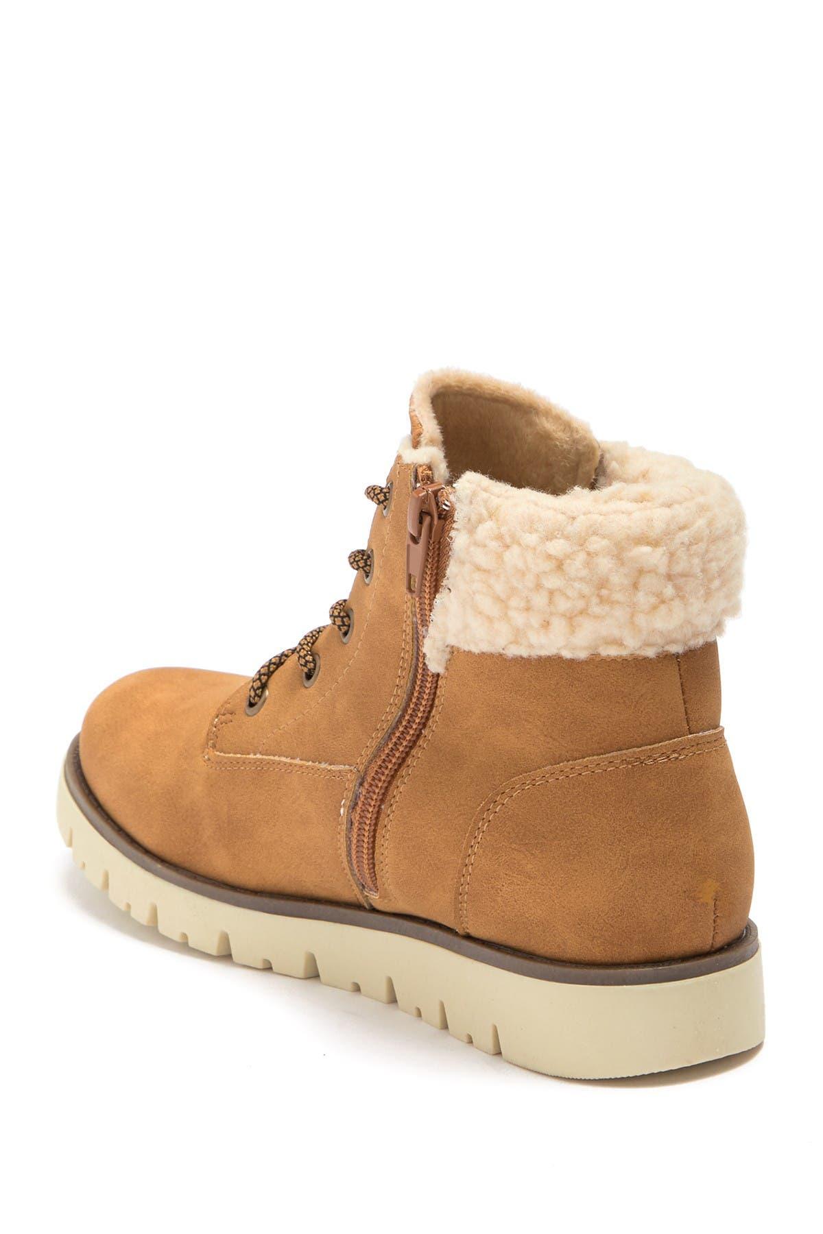 SPROX Alexa Faux Shearling Cuff Boot